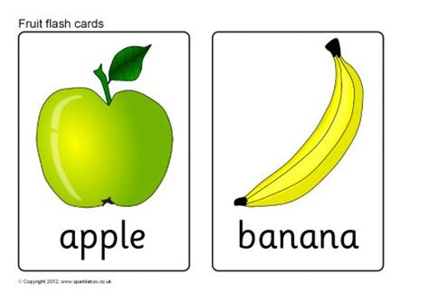 Flash Card Template For Mac Free by Fruit Flash Cards Sb8201 Sparklebox