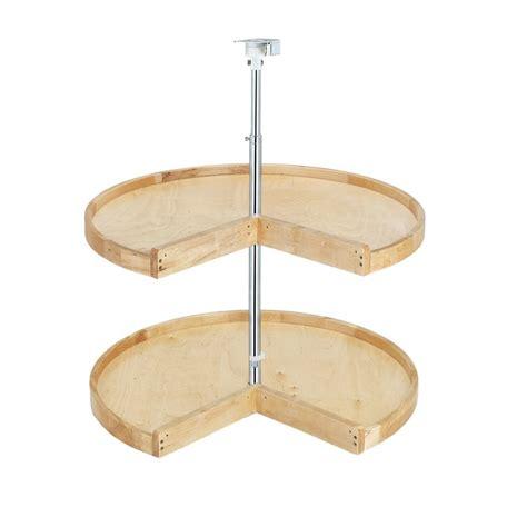 lazy susan cabinet hardware parts wood classic pie cut shelf set 24 quot 4wls942 24 52 by rev