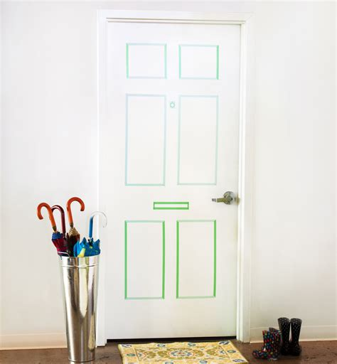 How To Decorate A Bedroom Door by How To Create A Faux Paneled Door With Washi Do It