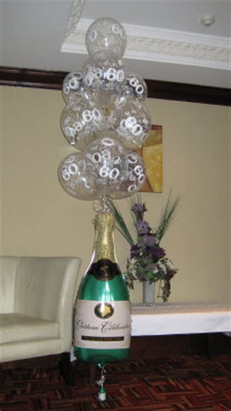 champagne bottles glass balloon decorations