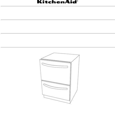 kitchenaid drawer dishwasher manual kitchenaid dishwasher w10300220b user guide
