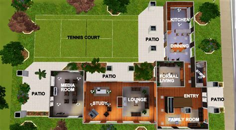 Free House Layout by Mod The Sims The Modest Design A Upper Middle Class