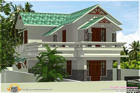 Home Design Roof Plans by 1656 Square Feet Green Roof House Indian House Plans