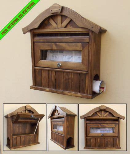 cassetta postale in legno cassetta postale posta porta lettere buca mailbox in legno