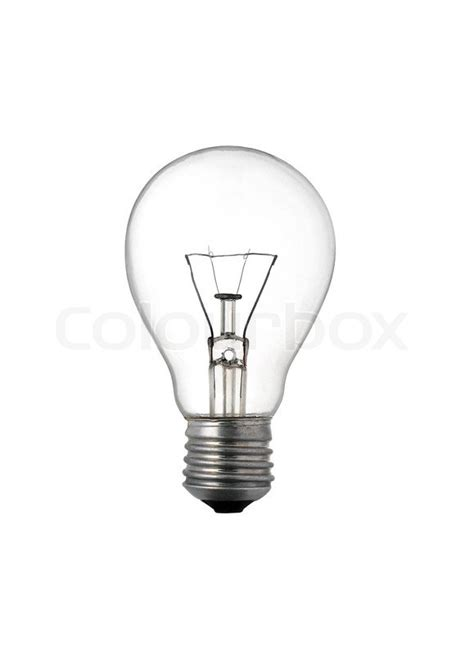 lights when closed light bulb up isolated on white background stock