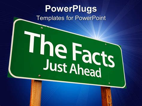 the sign of the powerpoint template the sign of a fact with bluish background and place for text 29390