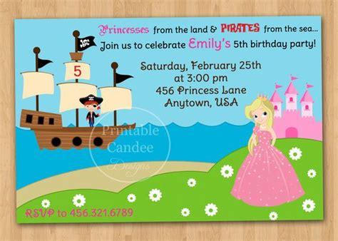 princess and pirate invitations princess and pirate invitations cimvitation