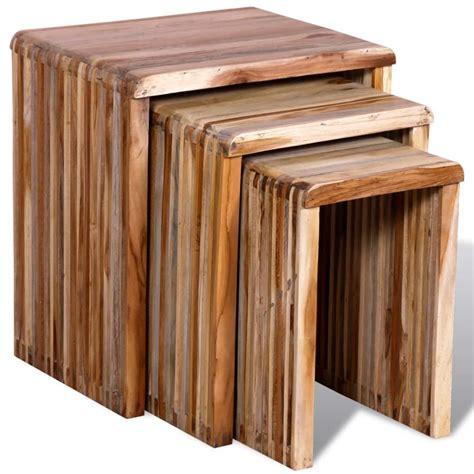 tafel gerecycled hout vidaxl nl bijzettafel gerecycled hout set van 3