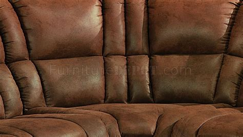 Brown Microfiber Sectional With Recliner Brown Specially Treated Microfiber Sectional Sofa W Recliner