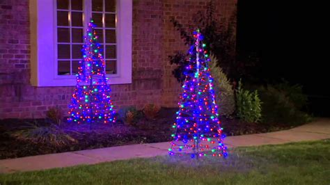 outdoor led trees pre lit led 5 fold flat outdoor tree by lori greiner on qvc