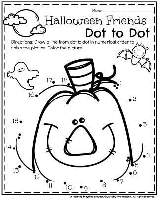 printable halloween games for kindergarten october preschool worksheets planning playtime