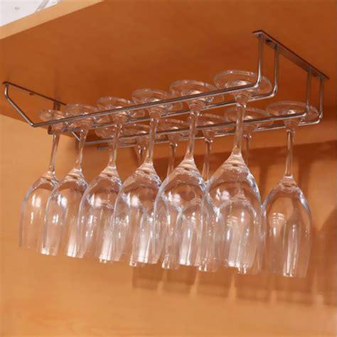 under cabinet wall wine rack storage organizer stainless