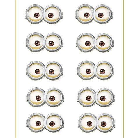 printable minion eyes for balloons 9 best images of for minion eyes printable balloons