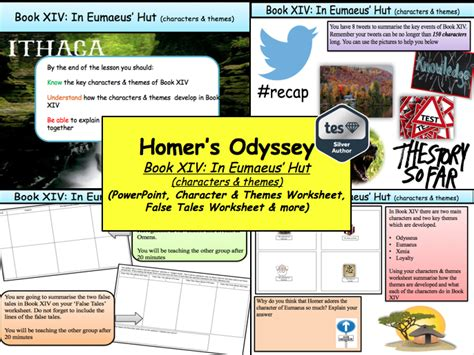themes book 13 odyssey matthew nolan s shop teaching resources tes