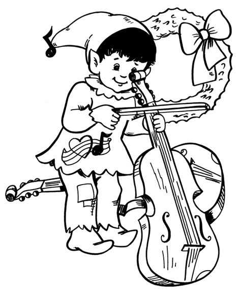 free coloring pages of cello line
