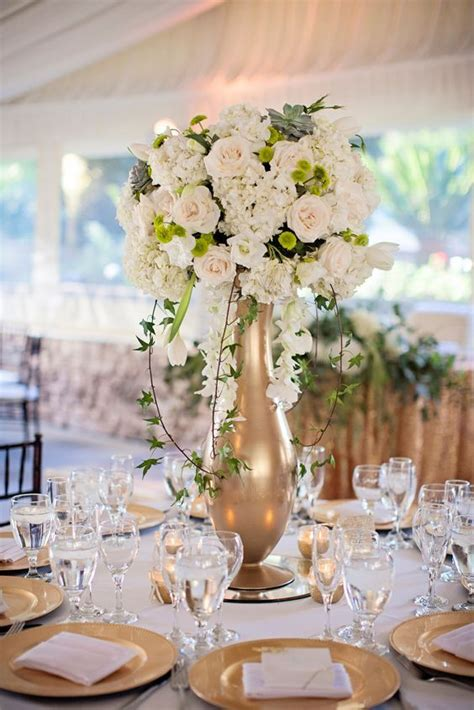 Wedding Reception Vases by Best 25 Gold Vase Centerpieces Ideas On