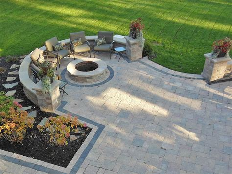 pit pavers outdoor paver pit ideas cleveland