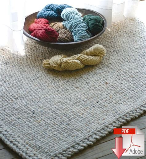 knitted rug patterns free knitted rectangular rug pattern knitting pattern halcyon yarn