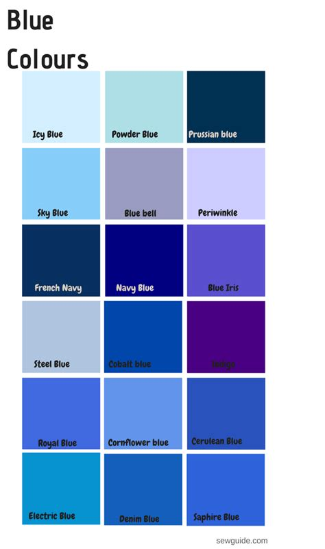 blue colors names color names in fashion design an easy reference guide