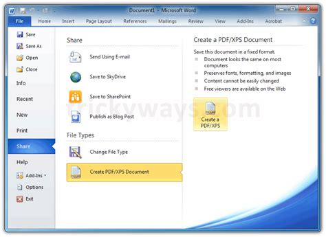 how to save a template in word save word document as pdf export pdf from word