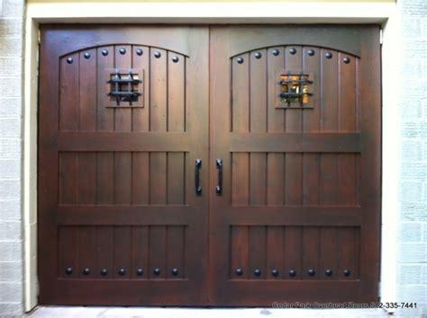 real wood overhead garage doors rustic garage