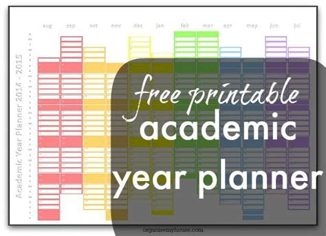 printable academic year wall planner top 25 ideas about filofax on pinterest college