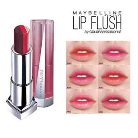 Mascara Maybelline Terbaru maybelline color sensational lip flush bitten lip gradation lipstick 3 9g new