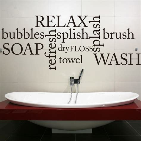 bathroom wall decals quotes bathroom wall decal quote