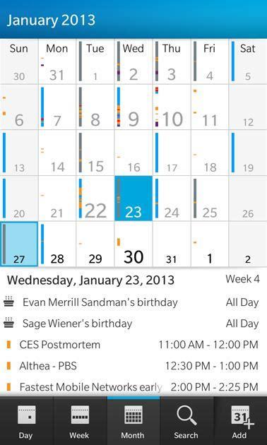 Calendar App For Blackberry Blackberry 10 Os Slide 10 Slideshow From Pcmag