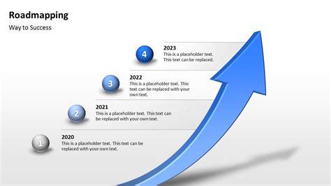 Template Vorlage Powerpoint kostenlose roadmapping vorlage 3d pfeil als zeitstrahl