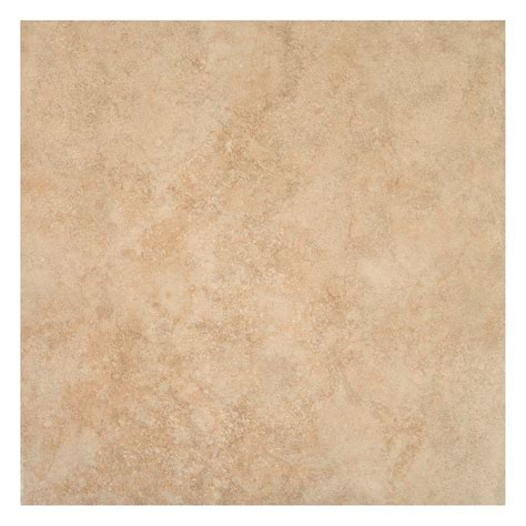 X Ceramic Floor Tile Trafficmaster Island Sand Beige 16 In X 16 In Ceramic Floor And Wall Tile 15 5 Sq Ft