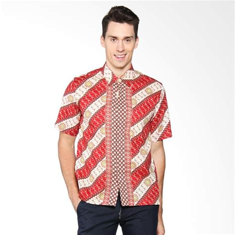 Kemeja Batik Priasabit Merah jual batik adikusuma parang kembang merah kemeja pria 412059027 harga kualitas