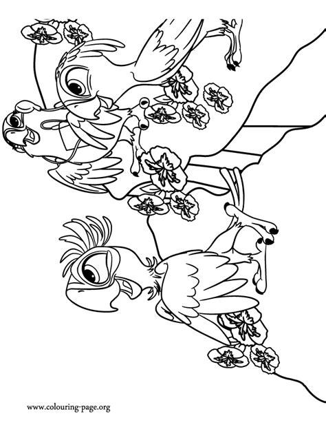 rio 2 carla bia and tiago coloring page