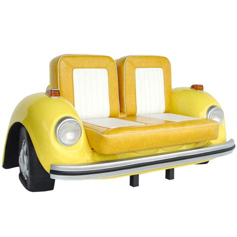 couch beetles vw beetle sofa yellow drinkstuff
