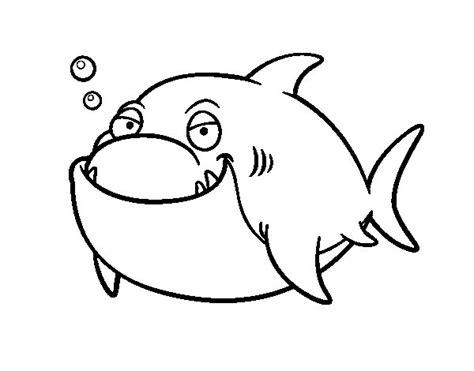 Imagenes En Blanco Para Pintar | dibujo de tibur 243 n blanco para colorear dibujos net