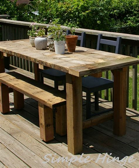 Rustic Patio Tables Rustic Outdoor Table Simple Hinge Llc