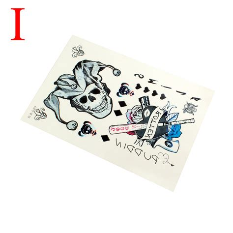sexy temporary tattoos harley quinn joker temporary tattoos
