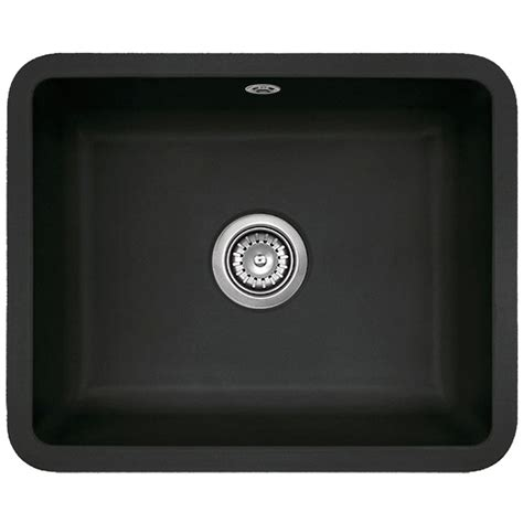 Undermount Ceramic Kitchen Sinks Astracast Vero 1 0 Bowl Large Black Ceramic Undermount Kitchen Sink Waste Ebay