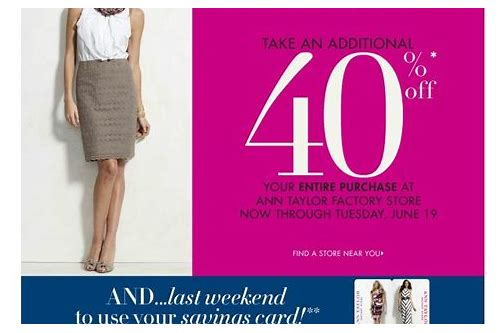 ann taylor factory store coupon 2018