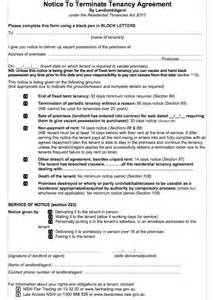 Template For Ending Tenancy Agreement by 45 Eviction Notice Templates Lease Termination Letters