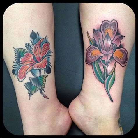 ali amillion tattoo hibiscus is healed iris is freshly done by ali walters