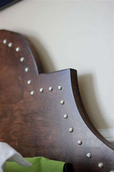 diy nailhead trim headboard remodelaholic the ultimate guide to headboard shapes