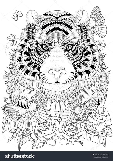 lion coloring page for adults 1077 best adult colouring animals zentangles images on