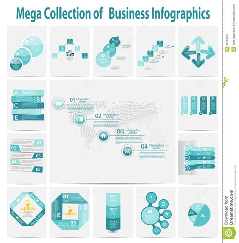 infographic templates for business vector illustration mega collection infographic template business concept