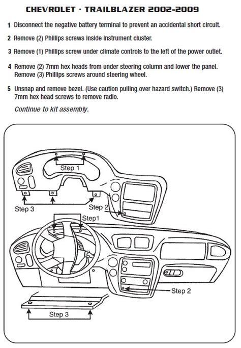 chevrolet trailblazerinstallation instructions