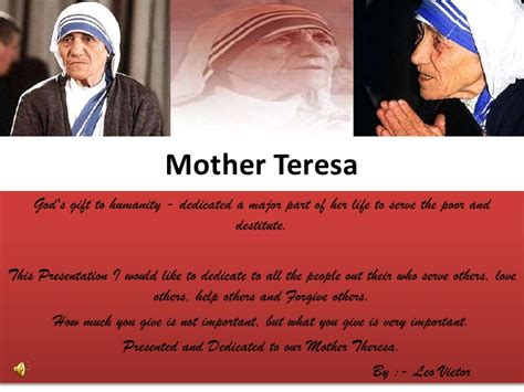 mother teresa biography for powerpoint mother theresa missionaries of charity