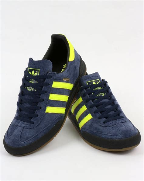 adidas jeans adidas jeans trainers navy solar yellow shoes suede