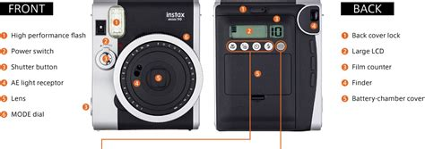 Fujifilm Instax Mini 90 parts diagram shooting guide instax mini 90 fujifilm