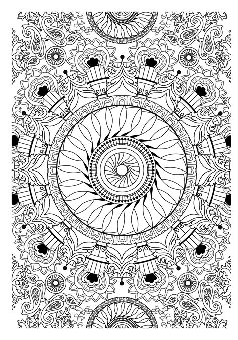 mandala coloring book coloring books for adults stress relieving patterns th 233 rapie mandalas on anti stress mandalas