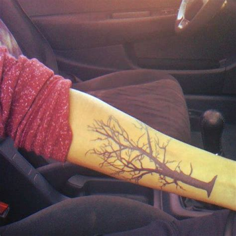arm tree tattoos tree on arm ink